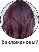 Баклажановый цвет волос фото
