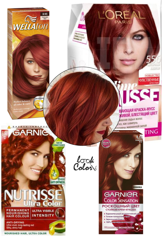 Тёмно-рыжая краска для волос