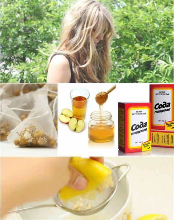 Осветление волос лимоном и уксусом