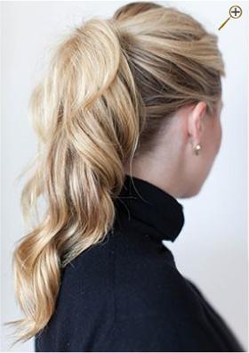 Хвосты для русых волос