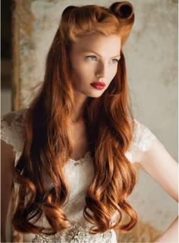 Прическа волна для рыжих волос