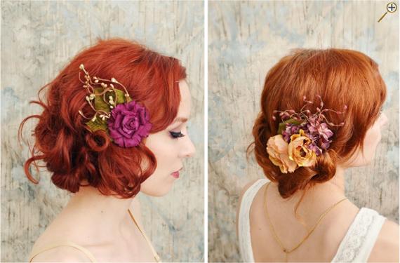 Цветы в рыжих волосах