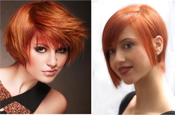 Короткие прически с рыжими волосами