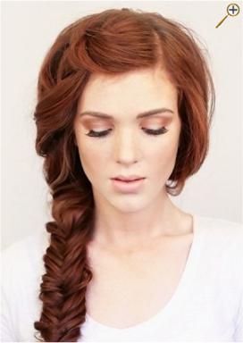 Косы для рыжих волос