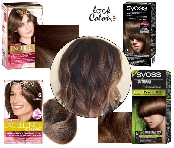 Темные цвета для волос
