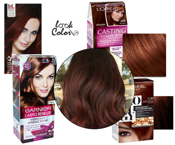 Шоколадно рыжий цвет волос краска