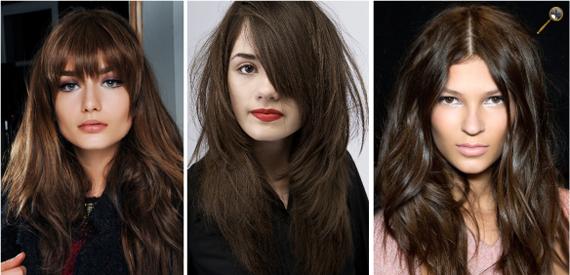 Натуральные оттенки темных волос фото