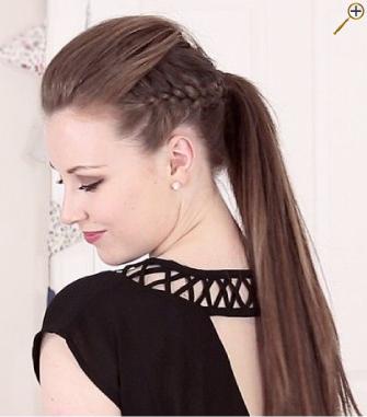 Хвосты для темных волос