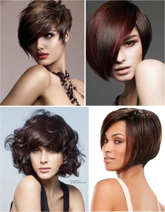 Короткие стрижки для темных волос