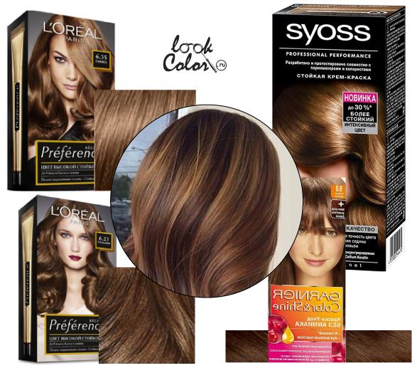 Цвет коричневый краска для волос