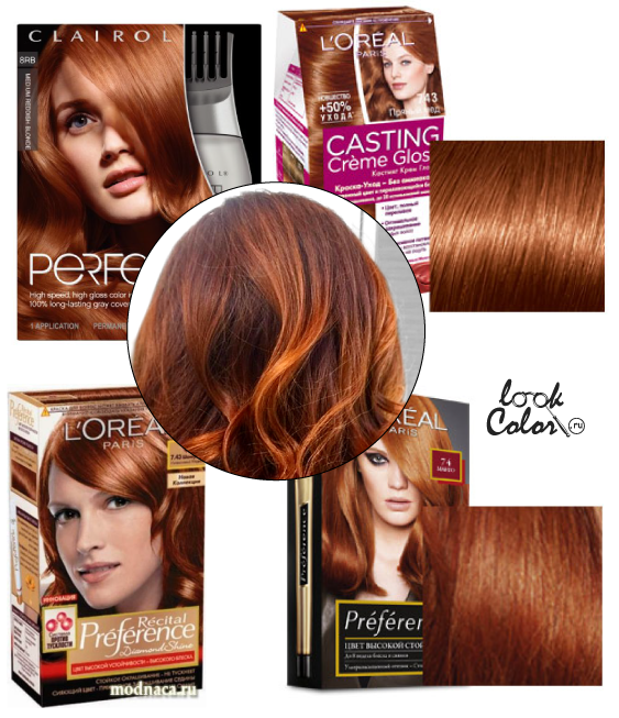 Краска медно рыжий цвет волос