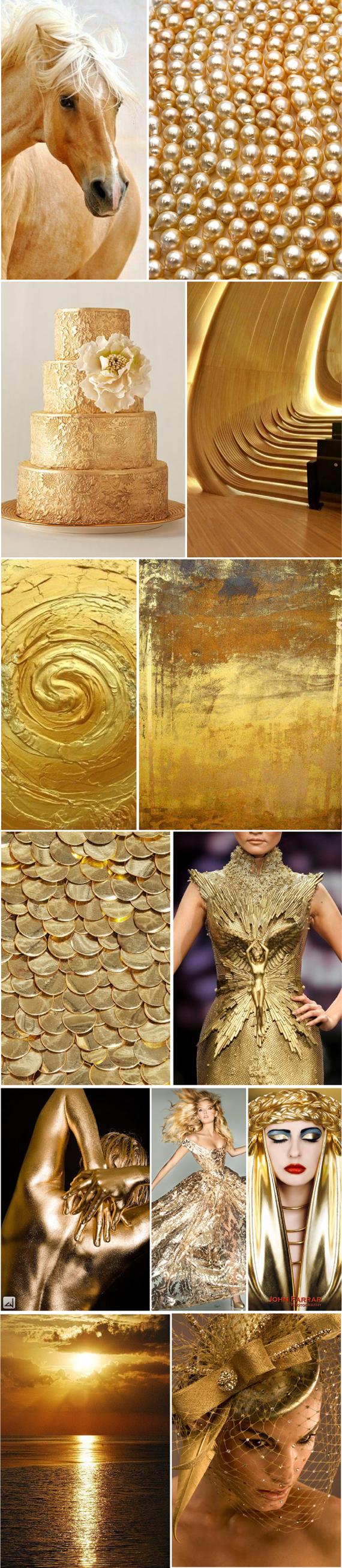 Золотые цвета