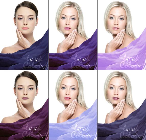 цвет волос лиловый фото