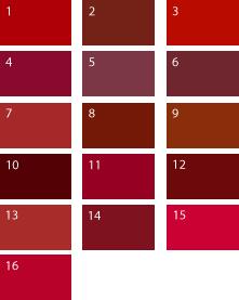 Красные оттенки для цветотипа осень