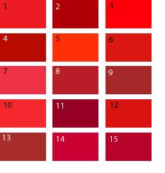 Красно-коралловый цвет