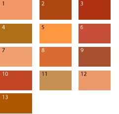 Оранжевые оттенки для цветотипа лето