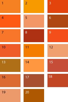 Оранжевые оттенки для цветотипа осень