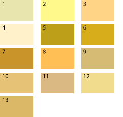 Желтые оттенки для цветотипа лето