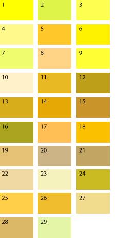 Желтые оттенки для цветотипа весна
