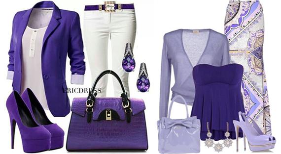 Фиолетовый в одежде