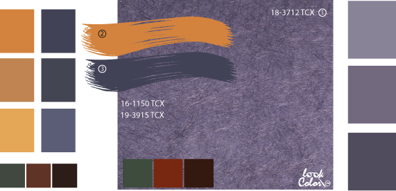 Серо-фиолетовый цвет.Сочетание фиолетового цвета.