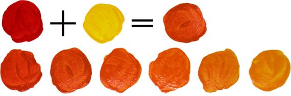 Как получить оранжевый: красно-оранжевый и желто-оранжевый цвет, смешивая краски