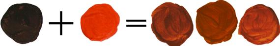 Как получить рыжий цвет, смешивая краски