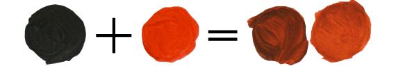 Как получить темно-оранжевый цвет, смешивая краски