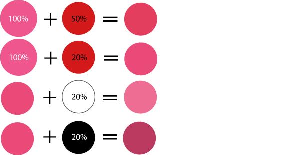 Как получить розовый цвет