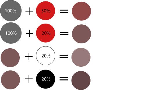Как получить серый цвет