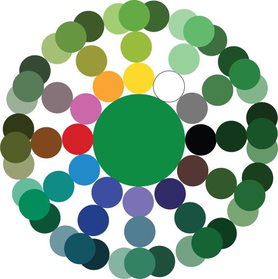 Как получить зеленый цвет смешивая краски