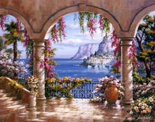Картина по номерам Арочная терраса