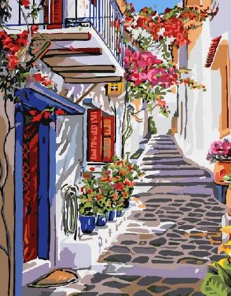 Картина по номерам. Цветочная улица