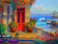 Картина по номерам Дворик в цветах