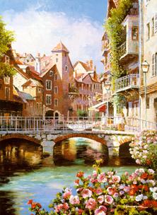Картина по номерам Мост Городской мостик
