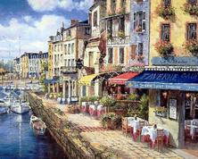 Картина по номерам Кафе на набережной