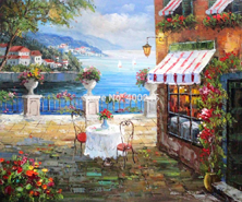 Картина по номерам Кафе возле моря