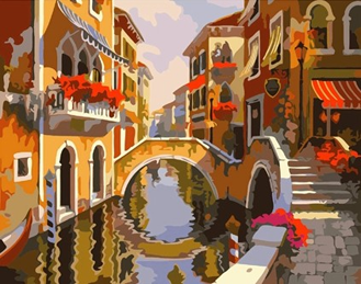 Картина по номерам. Каналы в Венеции