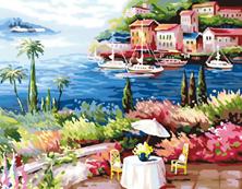 Картина по номерам Курортное кафе