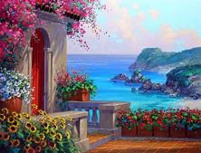Картина по номерам Лазурный рай