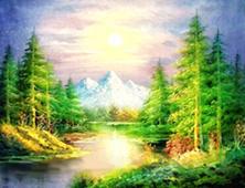 Картина по номерам Лесная речка
