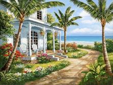 Картина по номерам Пальмы у домика