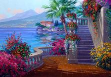 Картина по номерам Патио с лестницей