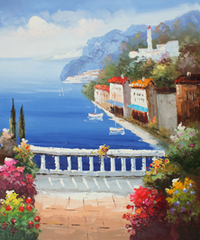 Картина по номерам Патио с видом на море