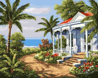 Картина по номерам. Пляжная вилла