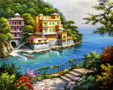 Картина по номерам Санаторий у реки