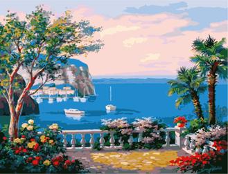 Картина по номерам. Терасса у моря