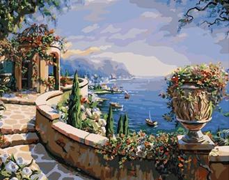 Картина по номерам. Терраса на Капри
