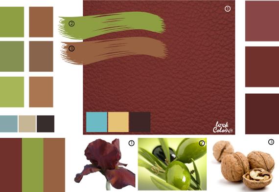 Красно-коричневый цвет, сочетание коричневого цвета