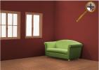 Красно- коричневый цвет в интерьере